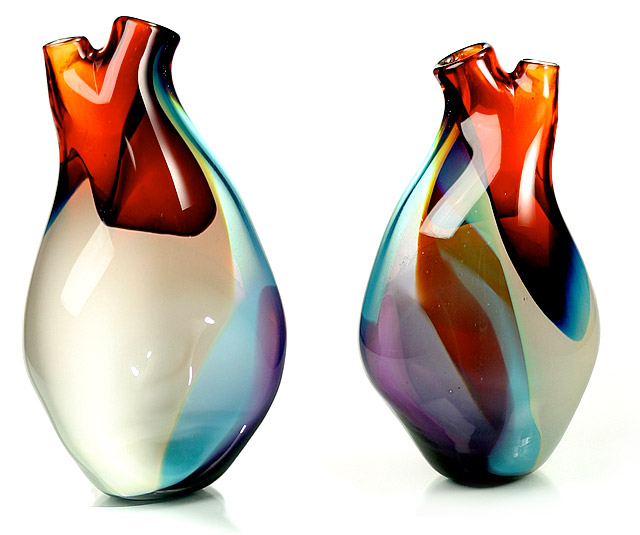 Glass Vase Shaped Like Human Heart